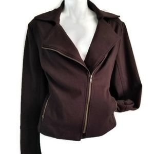 Kenneth Cole| Reaction| Moto Jacket|Brown| Size 10